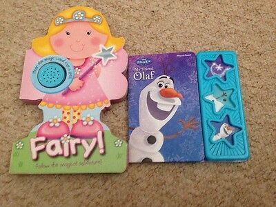 2 Childrens Musical Books Frozen And  Fairy