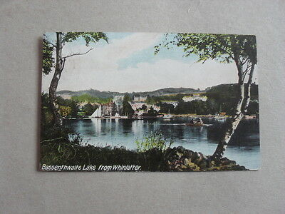 Vintage Postcard - Bassenthwaite Lake From Whinlater - Houses - Trees - Cumbria