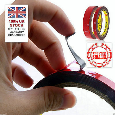 SALE:UK STOCK 3M™ 10mm/3m Automotive Car Acrylic Foam Double Sided Adhesive Tape