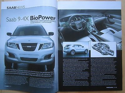 Saab Driver Magazine - 64 pages, 9-4X 900 Turbo 9000 96 V4 99 90 9-3 Convertible