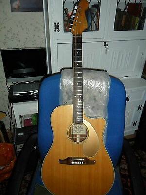 fender sonoran thinline  electro acoustic guitar