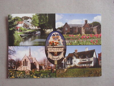 Postcard - Spalding - Church - River Welland - Water Taxi - Ye Olde White Horse