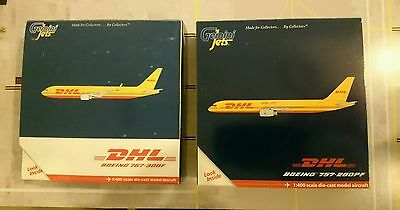 DHL B757-200PF & B767-300 1/400 by Gemini Jets. VERY RARE,  MINT CONDITION