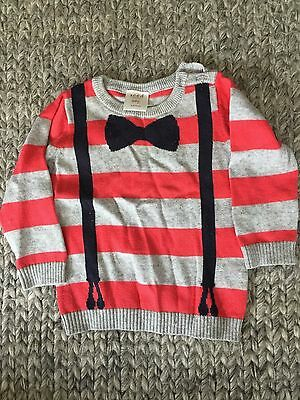 Seed Heritage baby boy cotton jumper 6-12 month old