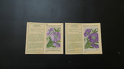 """Variety Pair of Wix Silks Small """"Scabious"""" First Series issued 1934"""