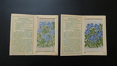 """Variety Pair of Wix Silks Small """"Periwinkle"""" Second Series issued 1935"""