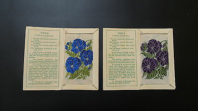 """Variety Pair of Wix Silks Small """"Viola"""" Second Series issued 1935"""