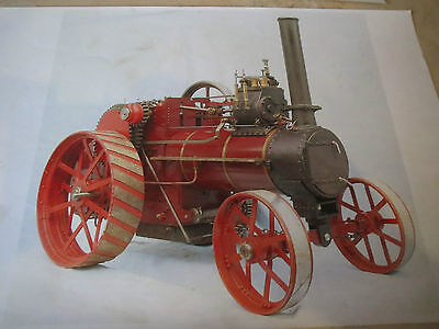 """Durham & N Yorkshire 4"""" steam agricultural traction engine with boiler cert."""