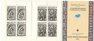Carnet Timbres  Croix Rouge France Neuf** Annee 1961