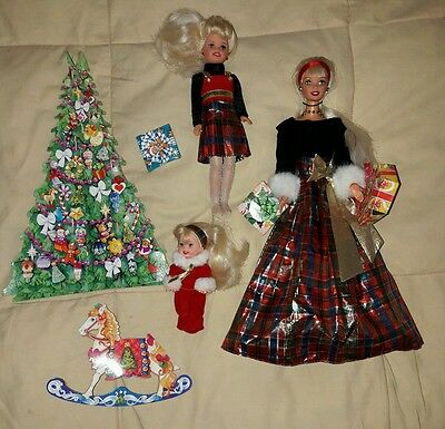 lotto lot barbie 90s holiday sisters christmas vintage stacie kelly