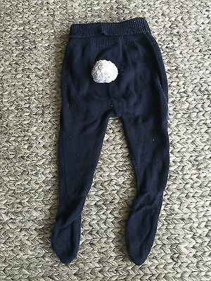 Seed Heritage baby unisex cotton pants size 6 to 12 months bunny rabbit detail