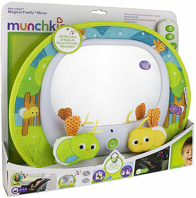 Munchkin BABY INSIGHT MAGICAL FIREFLY MIRROR Baby/Toddler Car Travel Musi BN