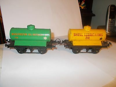 Hornby O Gauge Shell / Manchester Oil Wagons