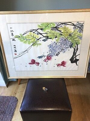 Chinese watercolour Signed With Characters And Artist Stamp