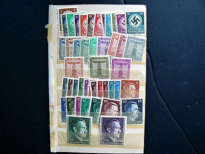 Timbres Allemagne  germany  Hitler  3ème reich  ww2   lot de 45 timbres neuf
