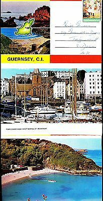 Pc- Photocolour Lettercard Guernsey Ci 5 Views Posted