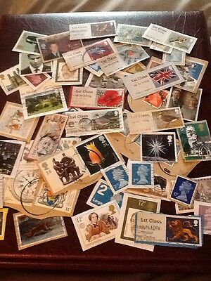 Small Collection GB Stamps Modern Stamps.