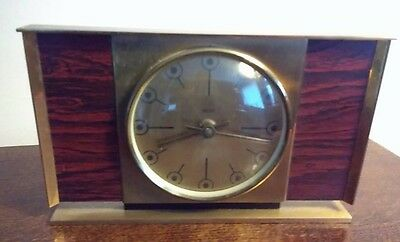 Vintage Smiths Metal Mantel Clock Made In England Battery Collectable