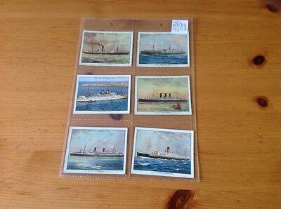 cigarette cards.Wills Famous British Liners.Full Set. 1st series. Good
