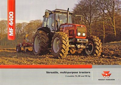Massey Ferguson 4400 Tractor Brochure. Immaculate Condition.