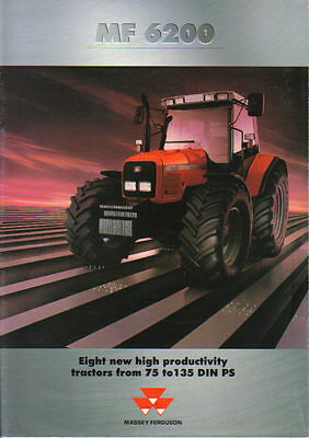 Massey Ferguson 6200 Tractor Brochure Poster. Immaculate Condition.