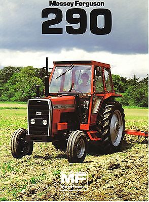 Massey Ferguson 290 Tractor Brochure. Immaculate Condition.