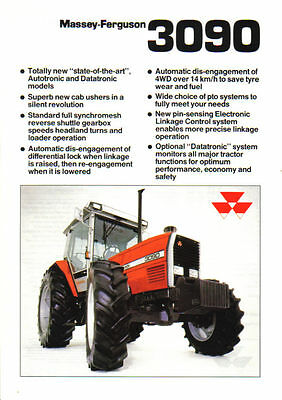 Massey Ferguson 3090 Tractor Brochure. Immaculate Condition.