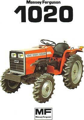 Massey Ferguson 1020 Tractor Brochure. Immaculate Condition.