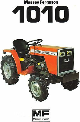 Massey Ferguson 1010 Tractor Brochure. Immaculate Condition.