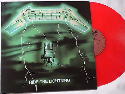 METALLICA - Ride the Lightning - RED LP Vinyl (FRENCH COVER)  -NEW & NOT SEALED