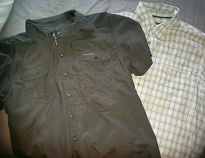 2 mens outdoor shirts craghoppers n berghaus XXL 46-48 only tried on