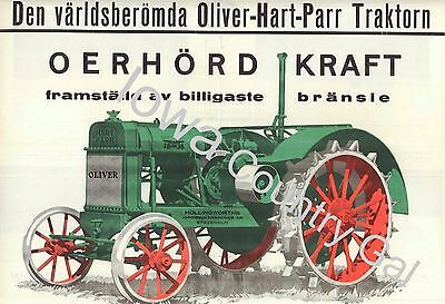 New Swedish 1930 Oliver Hart-Parr 18-36 Tractor Laminated Poster