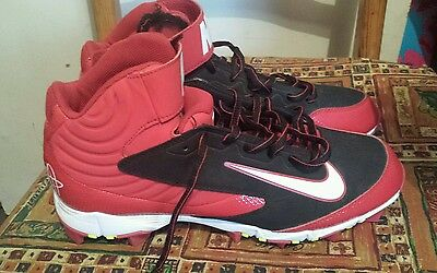 Red Nike Baseball Boots/cleats, size uk 7.5, excellent used condition