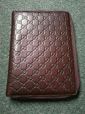 GUCCI Agenda Organiser rings Guccissima Leather business planner