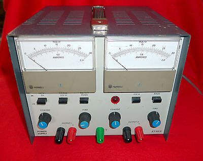 Farnell ET30/2 Stabilised Power Supply Twin output 0-30V at up to 2 Amps