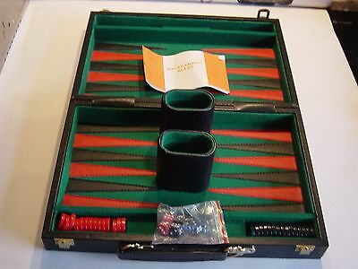 BHS luxury BACKGAMMON set in black, boxed,, complete