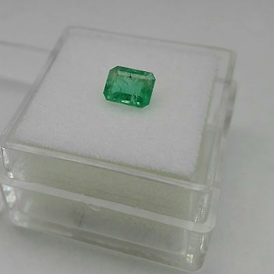 0.69 Cts Octagon Cut Bright Green Emerald Natural Colombian Loose Gemstone