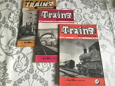 x3 TRAINS ILLUSTRATED MAGAZINES 1954/55/56