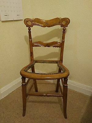 Antique Victorian / Edwardian Chair - Beautiful turned carved wood - Project