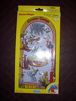 Schylling CURIOUS GEORGE Pinball Machine Game-NEW In Original Box!