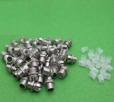 20PCS 3mm Clip Chrome Metal Bezel LED Holders Mounts K9