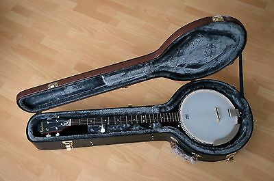 Epiphone MB100 5 string Banjo + hard case collection Bexleyheath