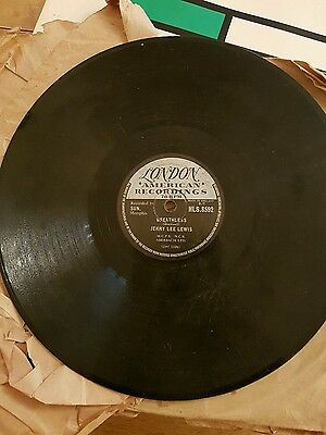 "Classic Jerry Lee Lewis 78  "" Breathless / Down The Line "" Uk London Hls 8592 V+"
