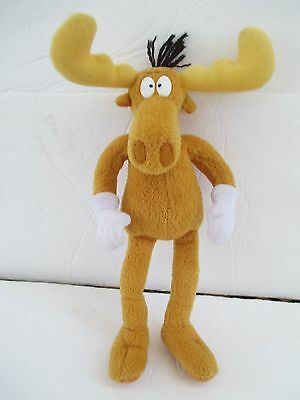 "Bullwinkle Moose Plush 9"" Bendable Arms Legs Just Toys 3921"