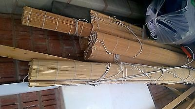 Bamboo blinds (5) job lot with string
