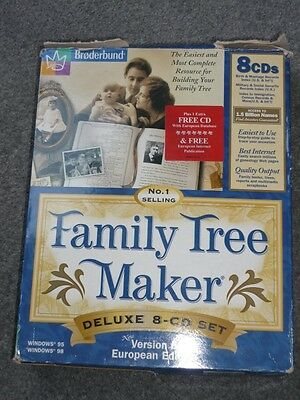 Family Tree Maker Deluxe 8 CD Set