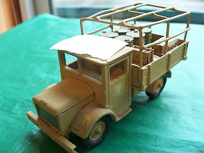 54mm/ 1/32 unknown make metal German Lorry WW2 with metal cargo