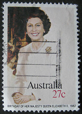 Queens Birthday used stamp from 1982, SG 842