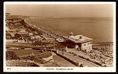 Postcard ~ PIER Approach & Bay BOSCOMBE Dorset BOURNEMOUTH Poole ~ 1955