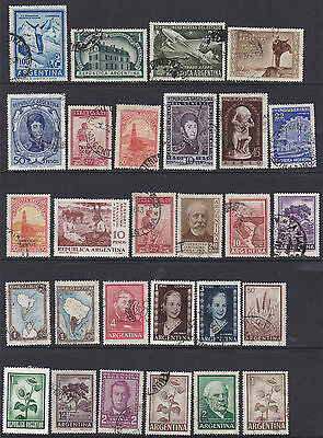 Some larger stamps of Argentina